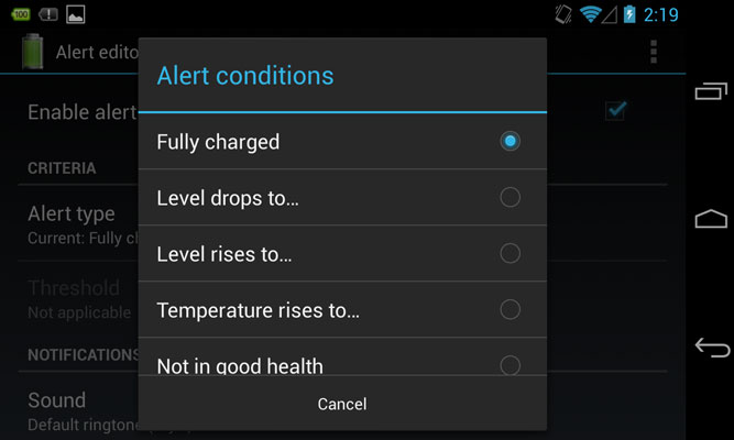 alert-conditions-battery level-android