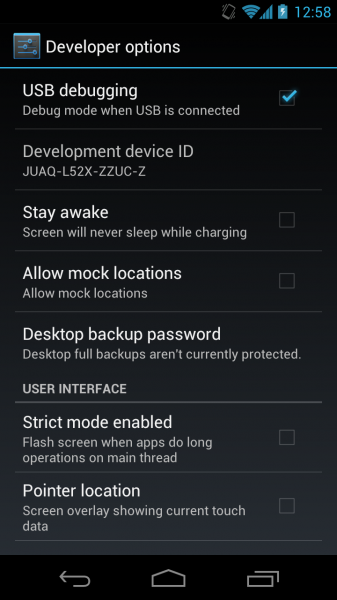 Enable USB Debugging Mode In Android 4.2