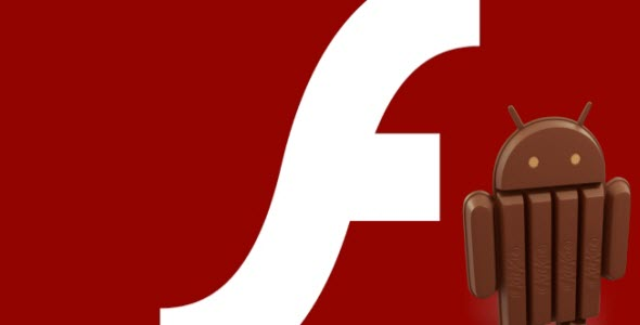 play flash video on Android 4.4 Kitkat