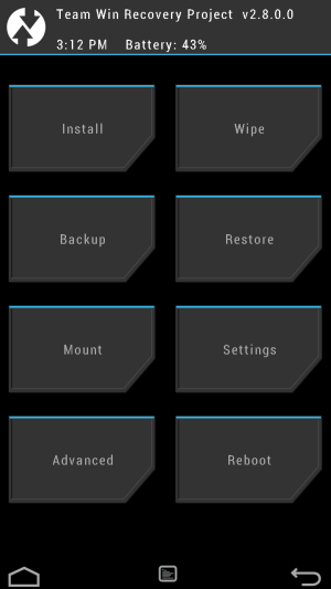 Redmi 1S TWRP Recovery