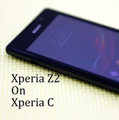 Xperia Z2 on Xperia C