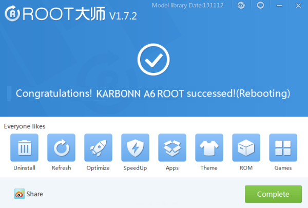 Karbonn A6 Rooted Successfully