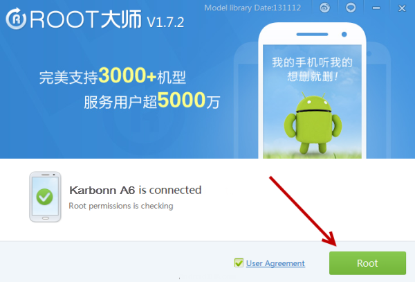 Root Karbonn A6 With vRoot