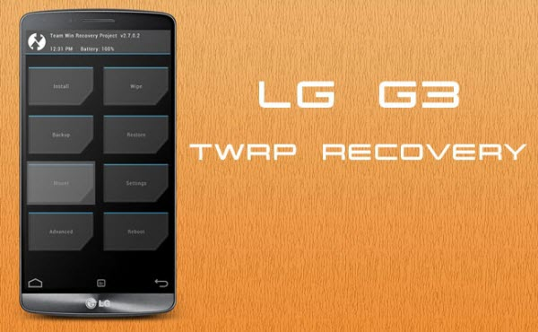 Install TWRP Recovery In LG G3