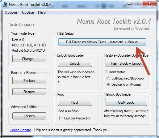 Nexus 6 Driver Installation