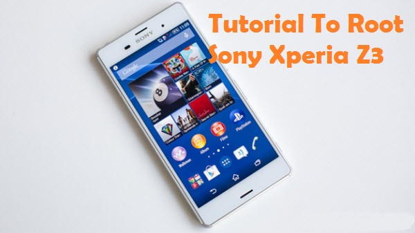 Root Sony Xperia Z3 Install TWRP Recovery