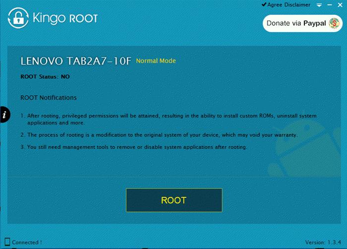 Kingo Root Lenovo Tab 2 Connect Message