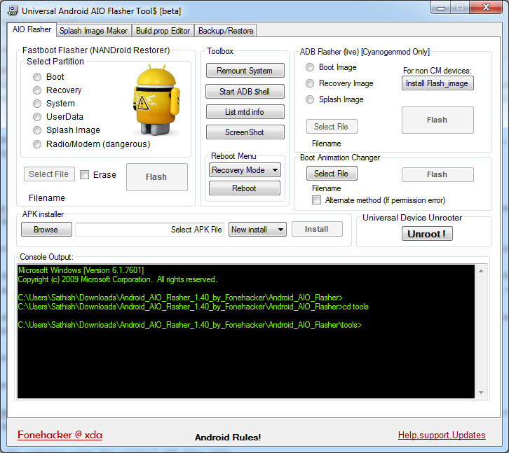 Universal Android AIO Flasher Tool