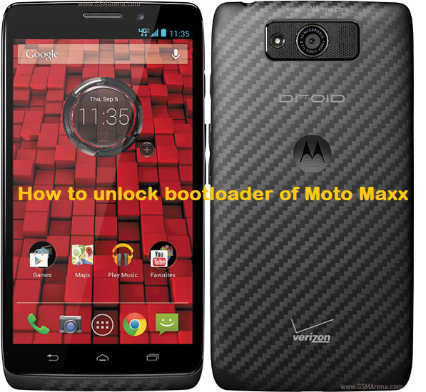 How to unlock bootloader of Moto Maxx